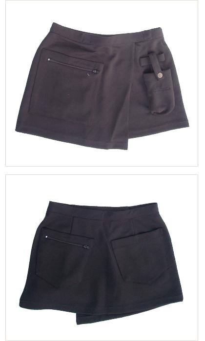 Wニットオーバースカート